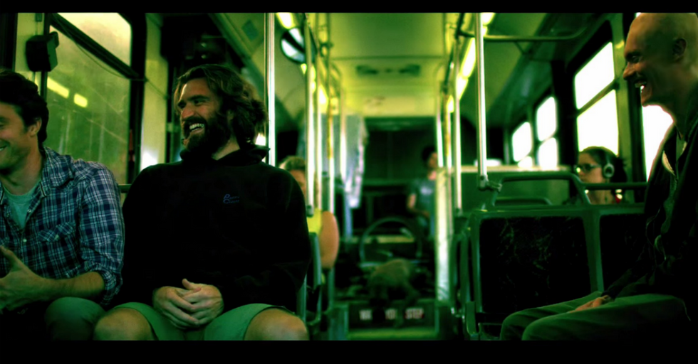 Three Fascinating Dudes on a Bus Stumble Upon the Solution to Humanity's Problems