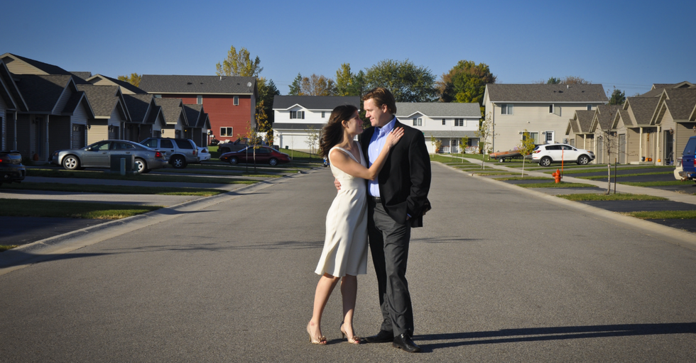 Why Do Happy People Make The Suburbs Look Even More Depressing?