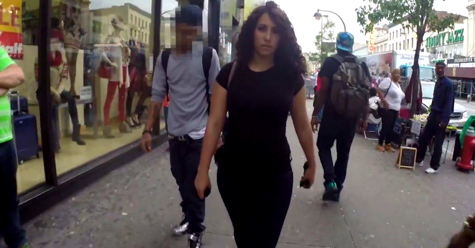 Here's What It Feels Like Being A Woman Trying To Walk Down The Street
