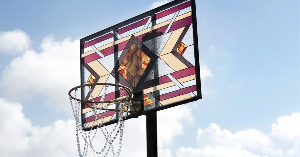 These Stained Glass Basketball Backboards are Kinda Ridic