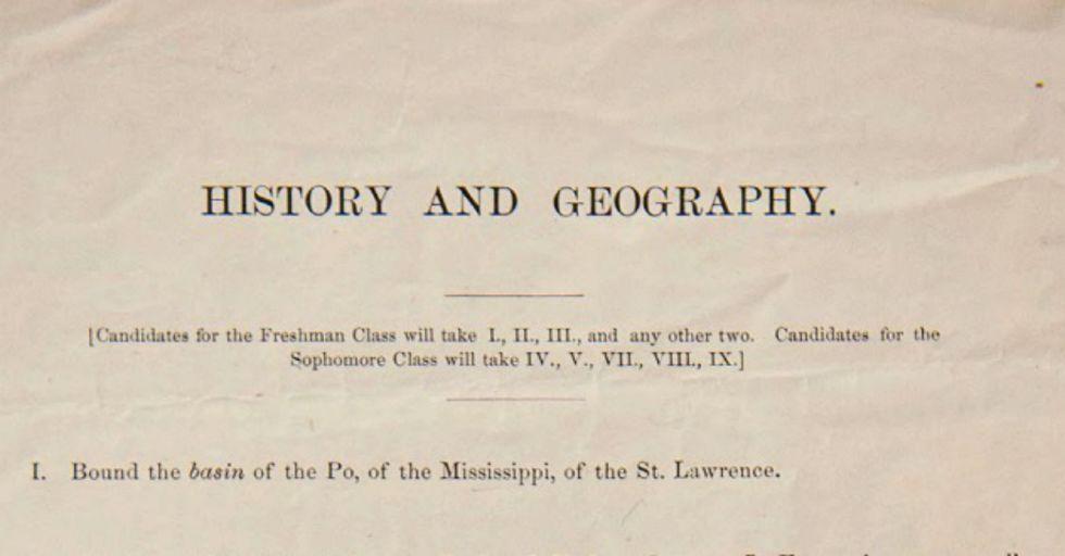 Can You Pass Harvard's 1869 Entrance Exam? (We Bet Not.)