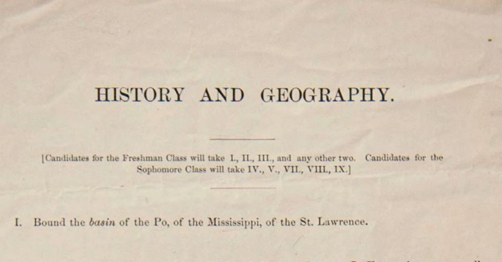Can You Pass Harvard's 1869 Entrance Exam? (We Bet Not.)