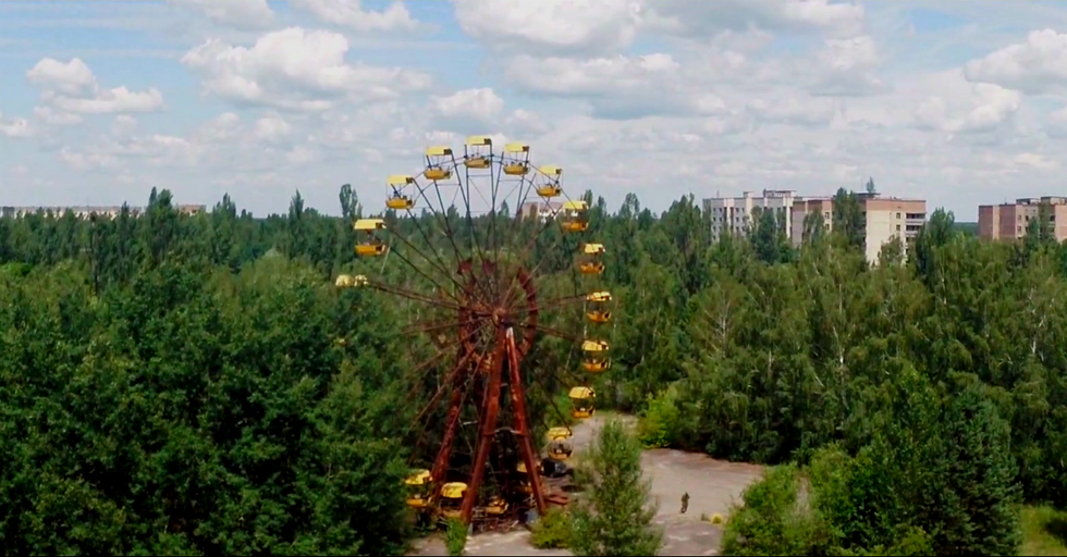 Drone Takes Creepy Bird's-Eye View Footage of Present-Day Chernobyl