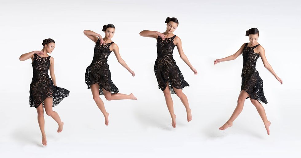 """A MoMA-Worthy """"4D Printed Dress"""" You Can Dance In"""