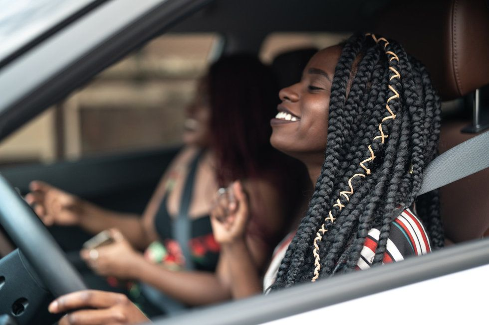 Image result for ride with a friend car blacks girls