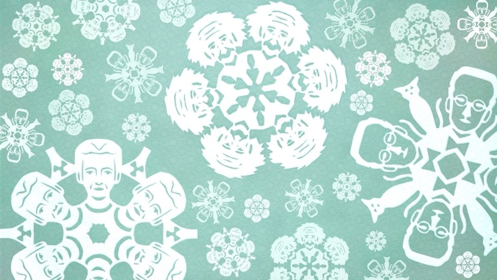 Have a Theoretical Christmas With These Nerdy Snowflake Decorations