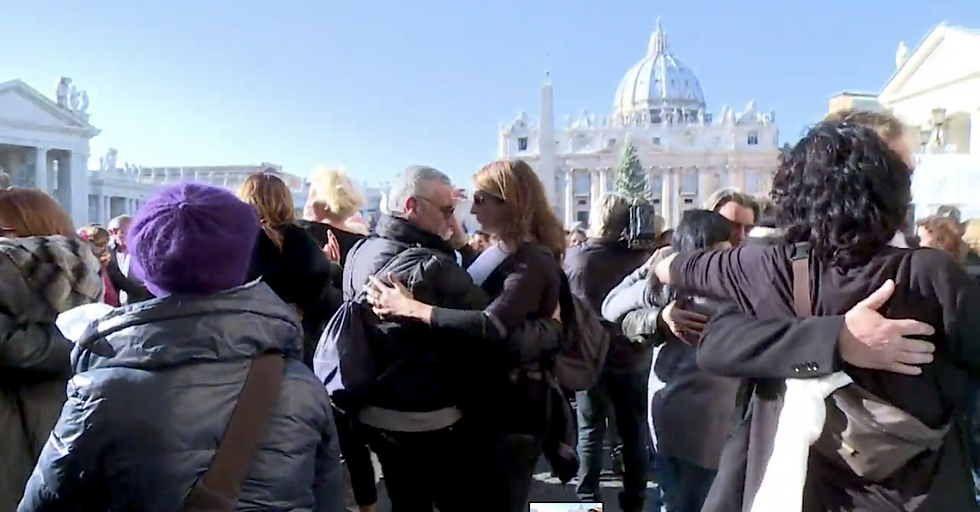 Romans Stage Tango Dance Party For Pope's Birthday