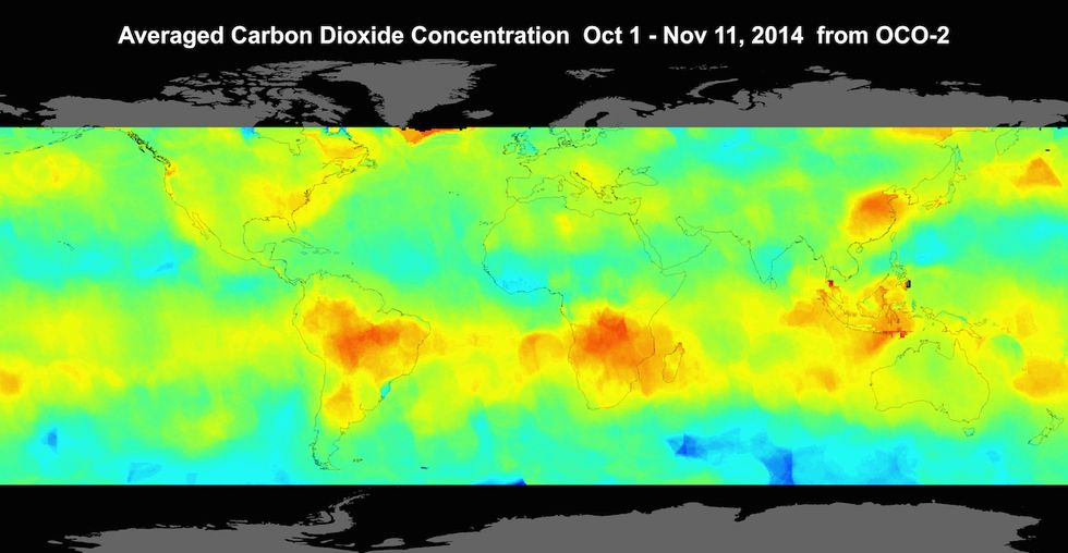 NASA's New Images Map Out Carbon Emissions