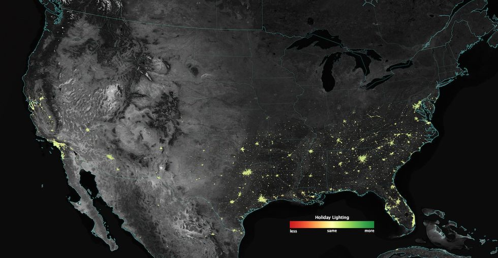 What Do Christmas and Ramadan Look Like From Space?