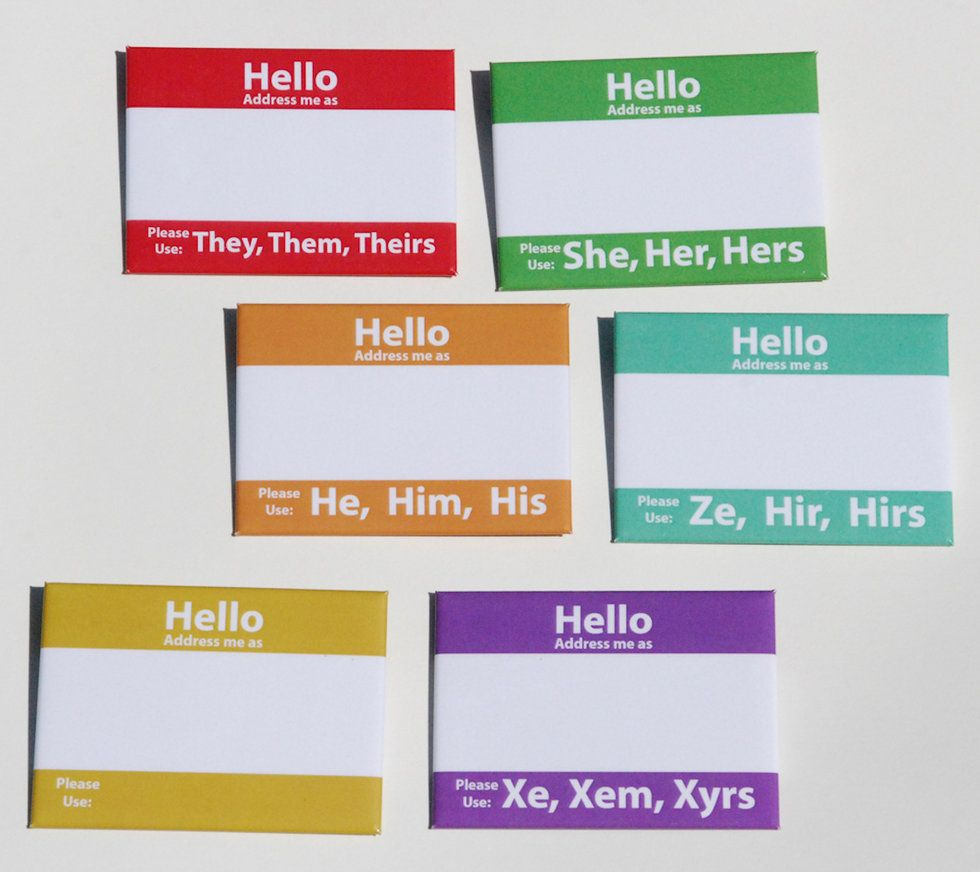 These Name Tags Will Make You Reconsider Gender Pronouns - GOOD