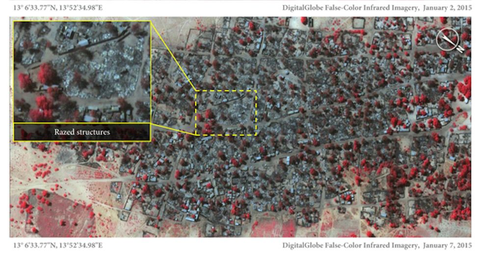 These Satellite Images Show How Boko Haram Nearly Wiped One Town Off the Map