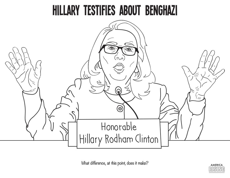 Anti-Hillary Clinton Coloring Book Published by Republican PAC