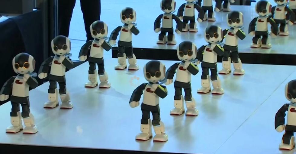 100 Little Robots Perform the Most Adorable Little Dance Number