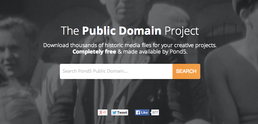 The Public Domain Project is a Database of Copyright-Free Media
