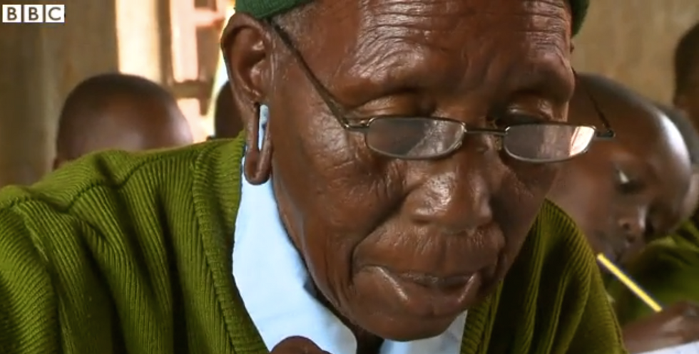 Kenyan Grandmother, 90-Year Old Badass, Is the Oldest Person to Attend Primary School