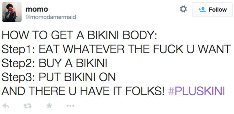 The #Pluskini Hashtag Brought Body Confidence to Twitter Today