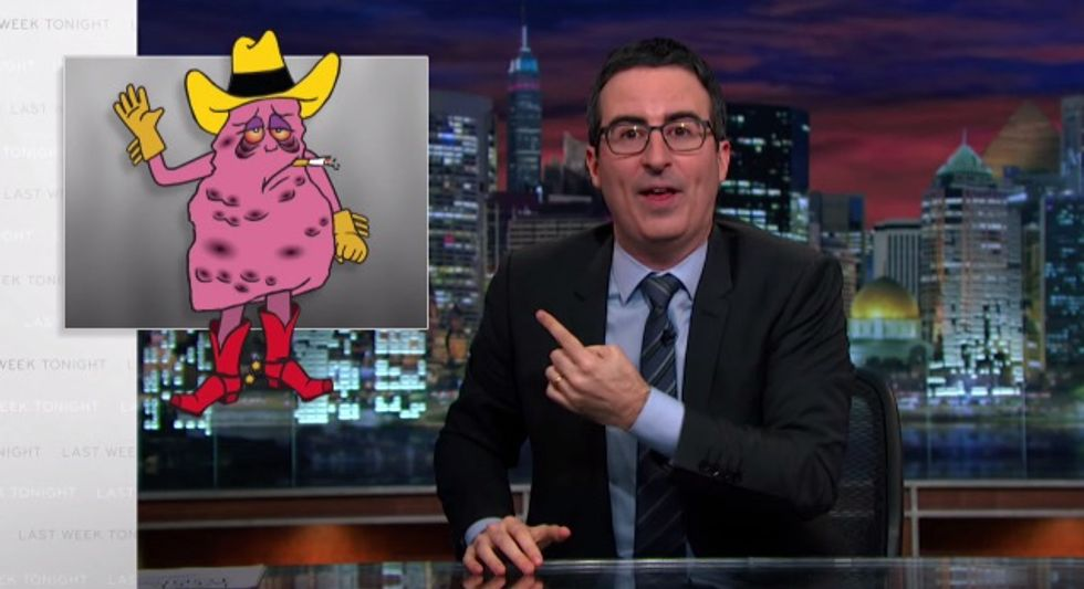 "Can John Oliver Make ""Jeff, The Diseased Lung In A Cowboy Hat"" Big Tobacco's New Mascot?"