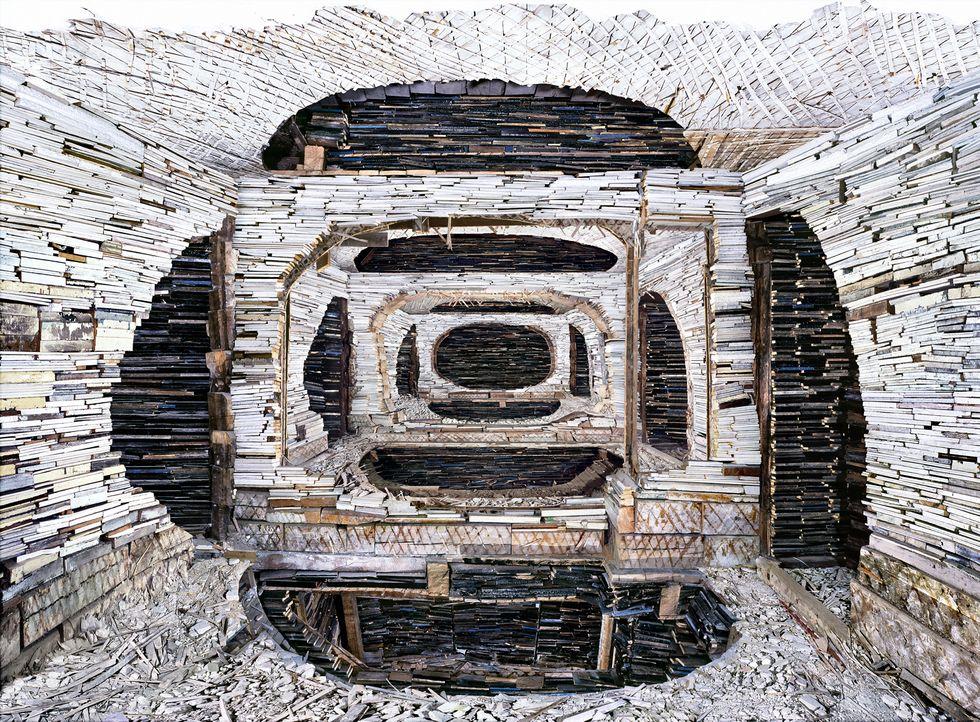 Sledgehammer-Wielding Artist Turns Abandoned Buildings Into Beautiful Sculptures