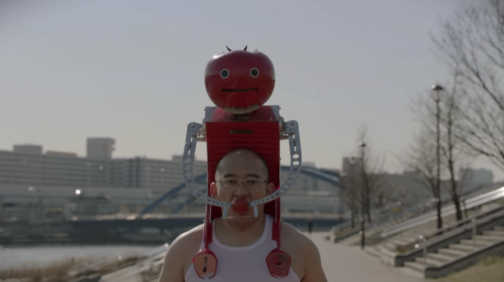 This Japanese Robot Will Dispense Whole Tomatoes Into Your Mouth While You Run