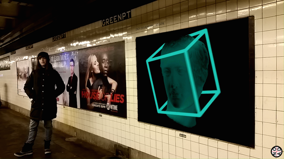 Turn The Subway Into A Digital Gallery With Your Smartphone