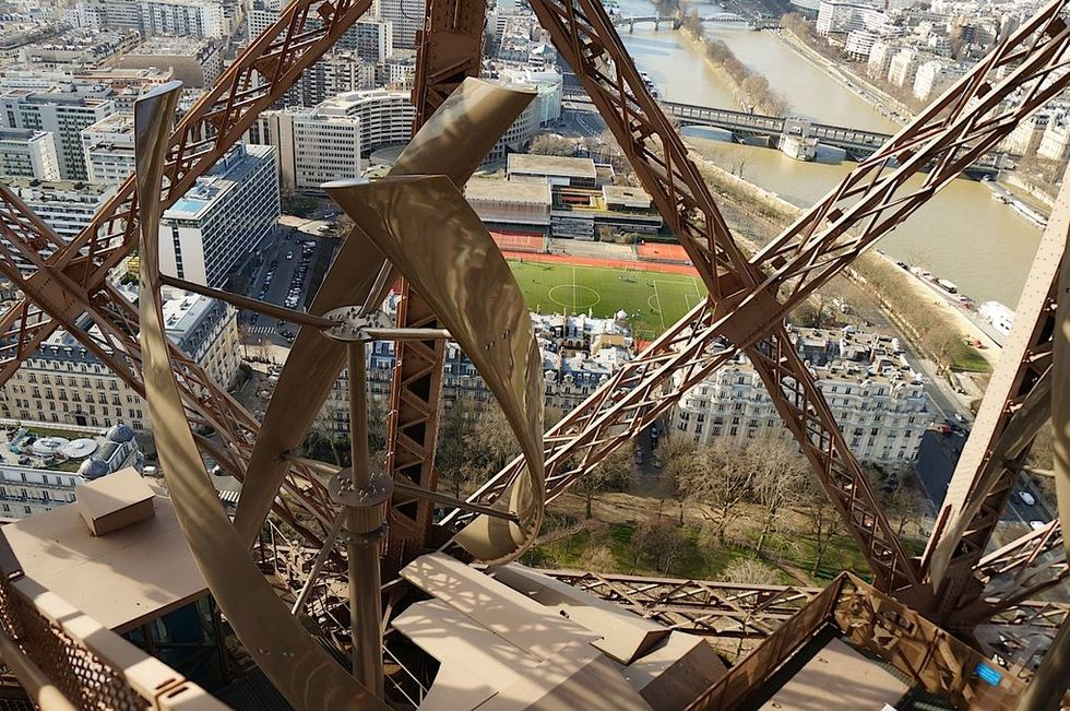 The Eiffel Tower Goes Green