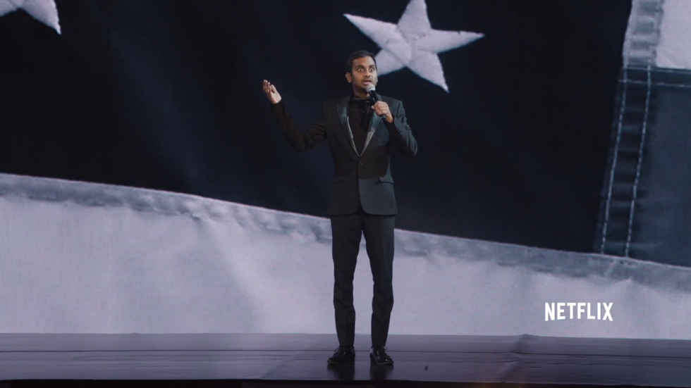 Aziz Ansari Thanks His Parents for Immigrating to the U.S. So He Could Spend Frivolously on Juice