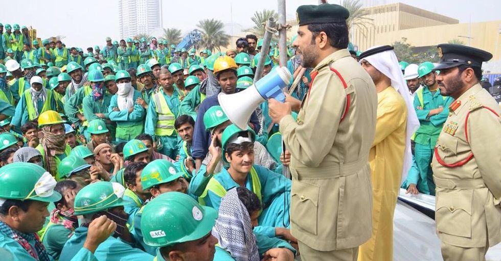 A Rare Workers' Protest in Dubai Dispels Delusion of Opulent Utopia
