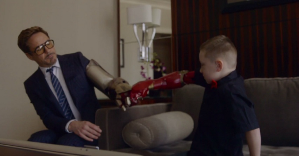 Robert Downey Jr. Helps Turn Boy with Disability Into Real-Life Iron Man