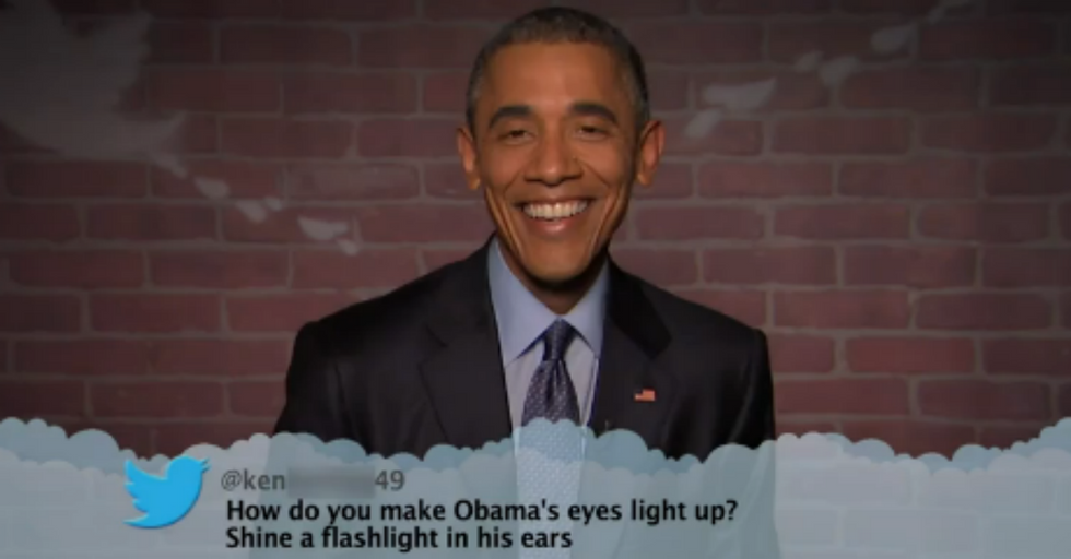 Why is Obama Smiling? He Just Read Some of Your Mean Comments from the Internet.