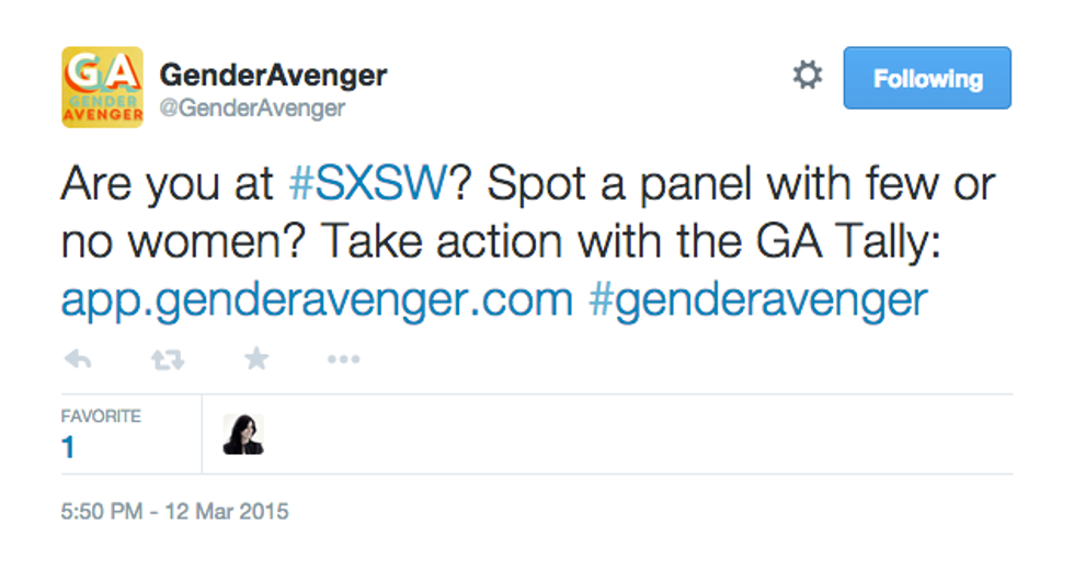 Gender Avenger Wants You to Report All-Male SXSW Panels With Its Simple App