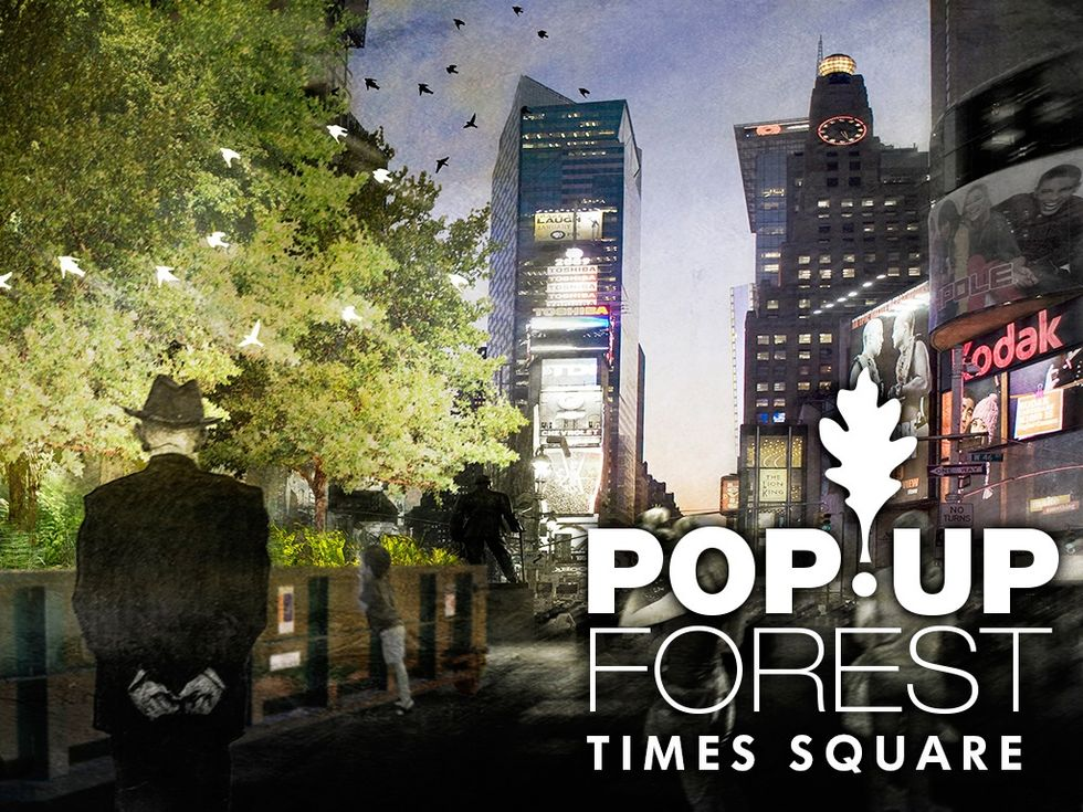 Help Transform Times Square into a Forest