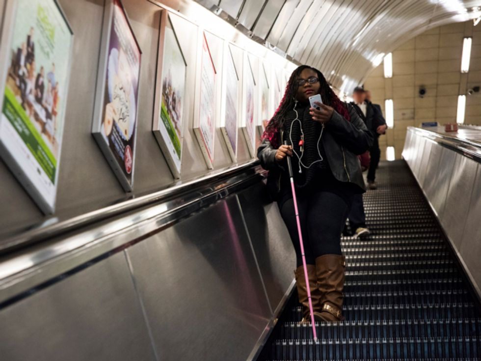 A Beacon System to Guide the Blind Through London's Subways