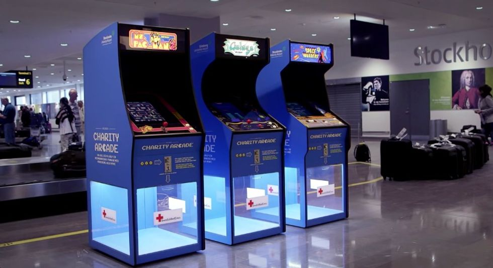 Swedish Airport Arcade Wants Your Coins for a Good Cause