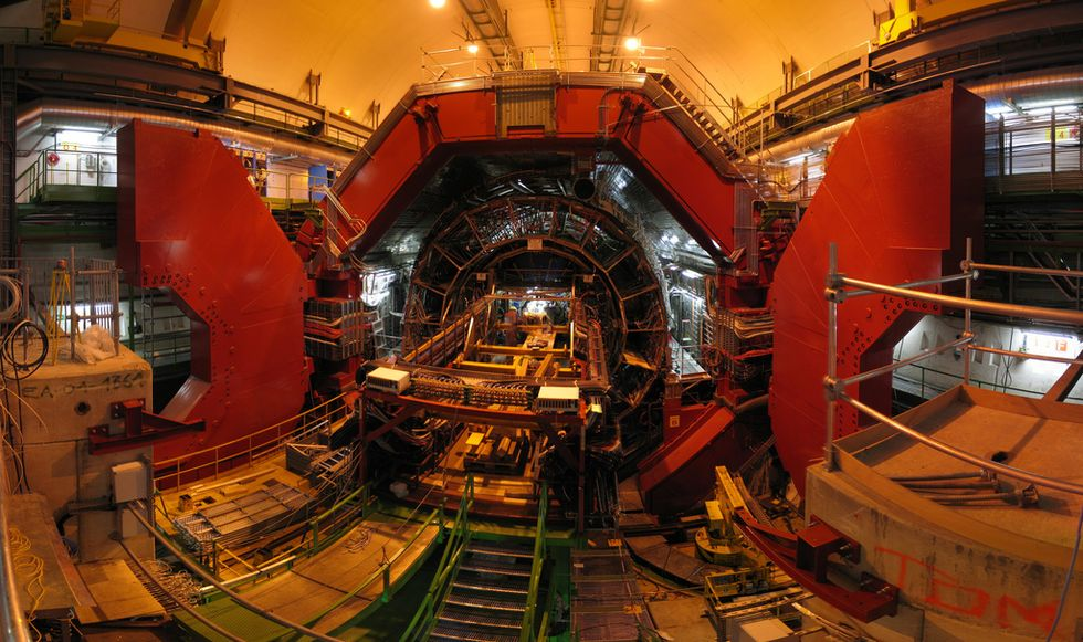 Large Hadron Collidor Researchers Hope To Touch Another Dimension