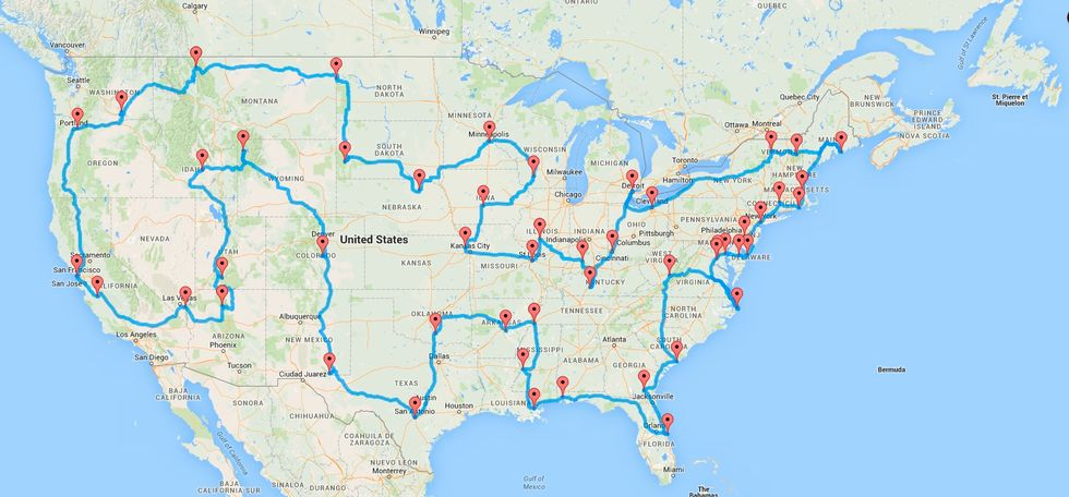 Computer Algorithm Spits Out Route For Ultimate American Road Trip