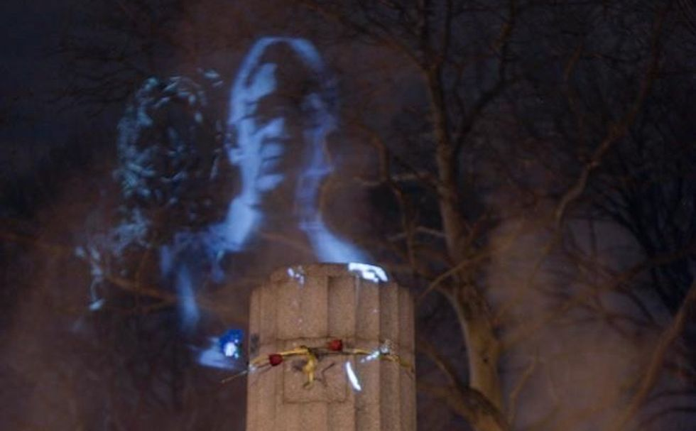 Illegal Edward Snowden Statue Replaced With Hologram Monument