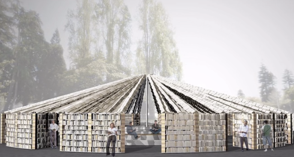 This Pop-Up Library Will Be Built Entirely of Books