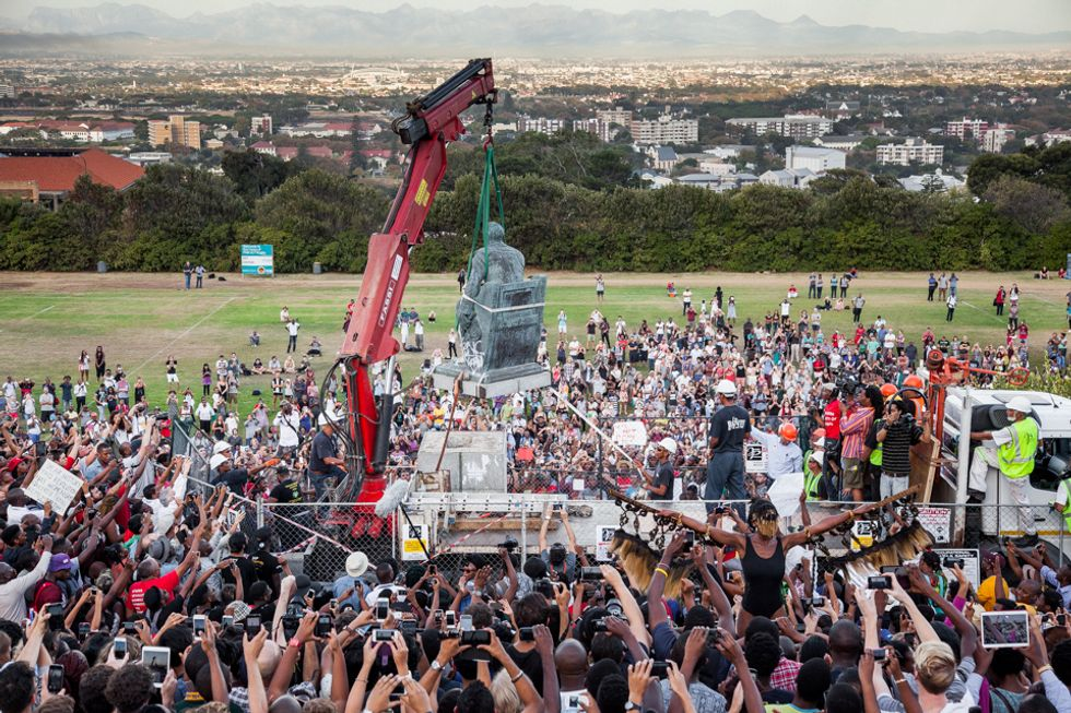 After a Month of Protests, University of Cape Town Removes Major Monument