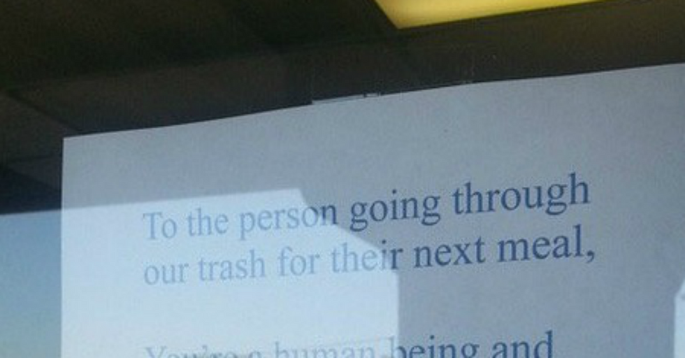 Sandwich Shop Owner's Note To Dumpster Diver Going Viral
