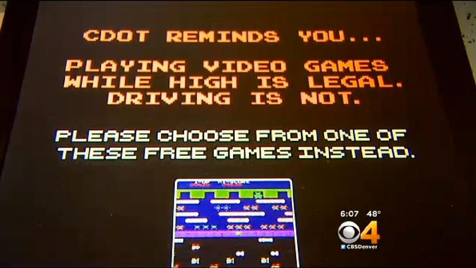 These Retro Arcade Consoles Have a Special Message for Colorado Pot-Smokers