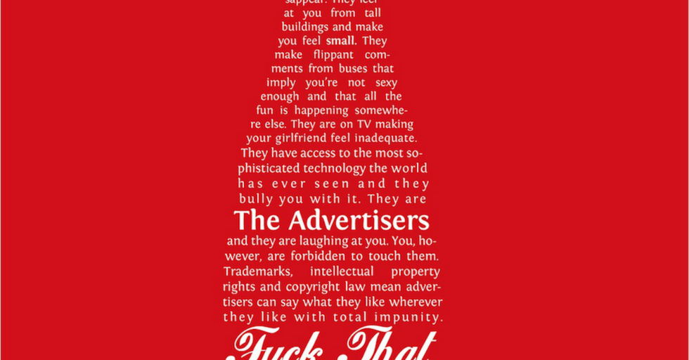 Fake Coke Ad Actually Bad-Ass Banksy Quote