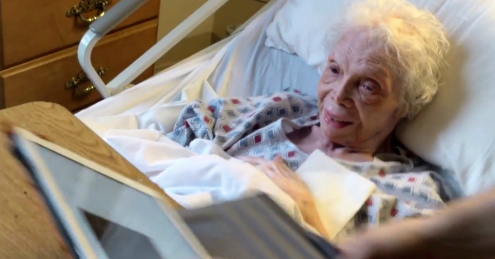 102-Year-Old Woman Sees Video Of Her Younger Self For The First Time