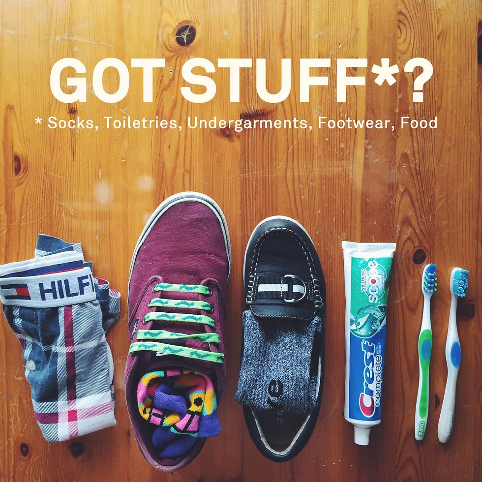 Here's All It Takes to Change Someone's World: Socks, Underwear, Toiletries—and Maybe a Van.
