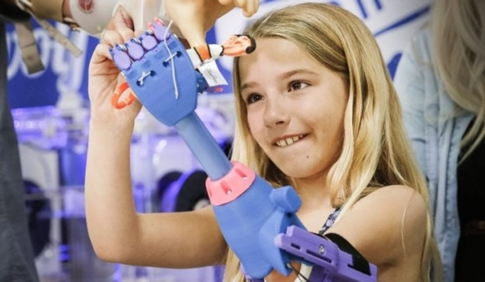 Little Girl Gets Awesome, 3D Printed Prosthetic Hand