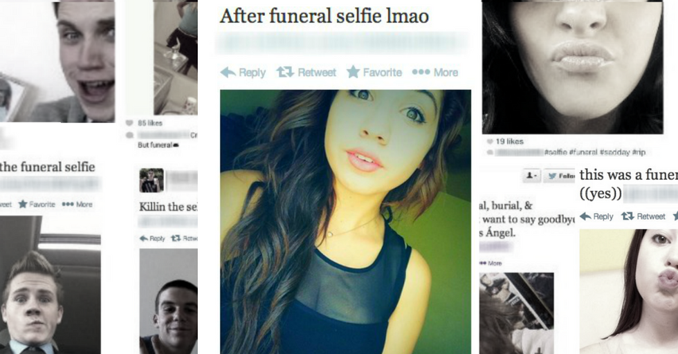 Taking Selfies at a Funeral Apparently Hot New Teen Trend
