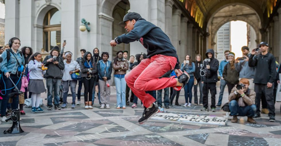 NYC Subway Dancers and Musicians Held a Block Party to Protest Police Hires
