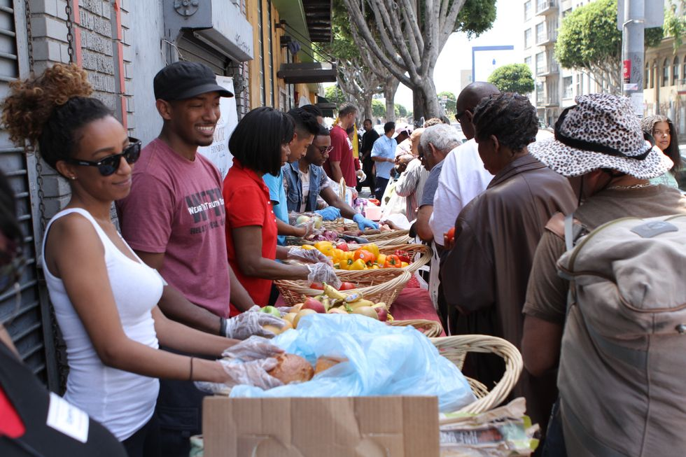 How a Few Everyday Items Made One Wednesday in Skid Row a Little Better.
