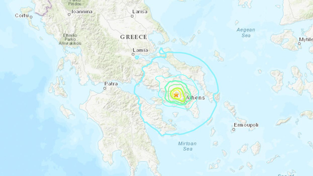 Powerful Earthquake Hits Near Athens, Greece