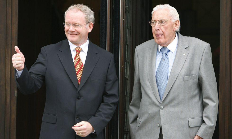 Martin McGuinness e Ian Paisley