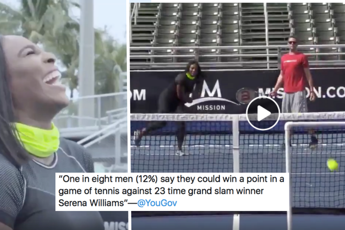 To the 1 in 8 deeply misguided men who think they could score on Serena Williams